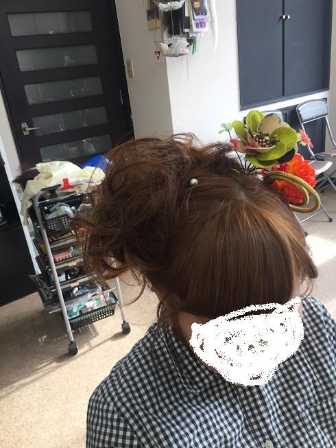 鵜方 アップヘア 編込み